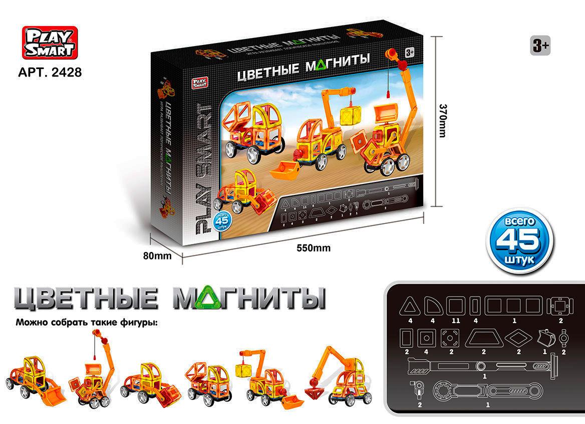 Магнитный конструктор play smart 2428